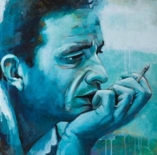 Jonny Cash, Acryl auf Leinwand, 44x44cm