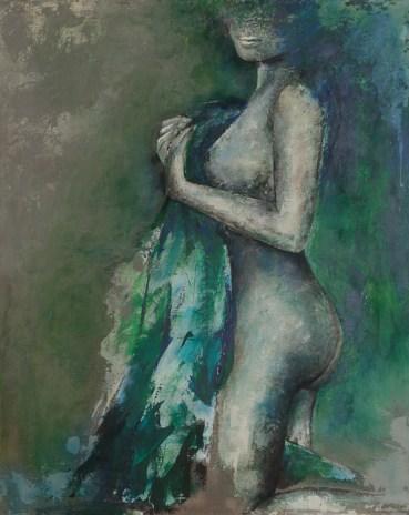 Hannah, Acryl auf Leinwand, 100x80cm