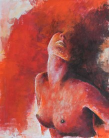 Kyla, Acryl auf Leinwand, 100x80cm