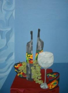 Stilleben, Acryl auf Leinwand, 50x70cm