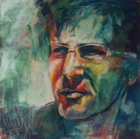 Stefan, 100 x100cm, Acryl auf Leinwand,
