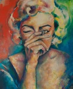 Marylin, Acryl auf Leinwand, 120x100cm