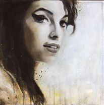 Amy Winehouse, Acryl auf Leinwand, 44x44cm