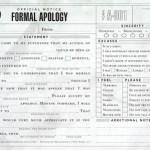 Formale Entschuldigung