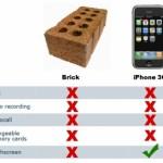 iPhone 3G Vergleich mit Ziegelstein