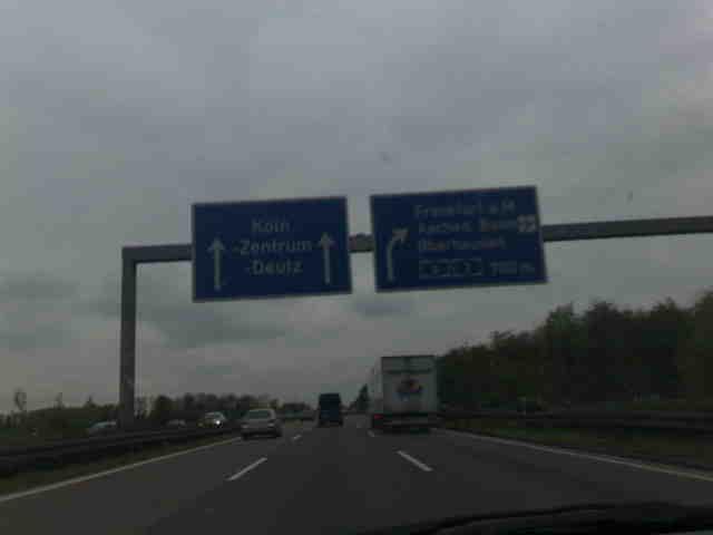 Autobahn nach Koeln