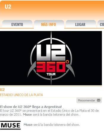 U2 en La Plata