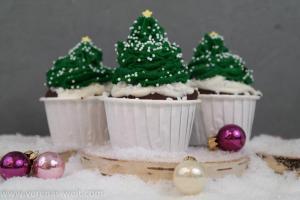 Weihnachtsbaum-Cupcakes