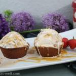 Eiscreme-Brownie Bowls mit Salted Caramel Sauce