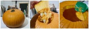 halloween kürbis schnitzen grinsekatze
