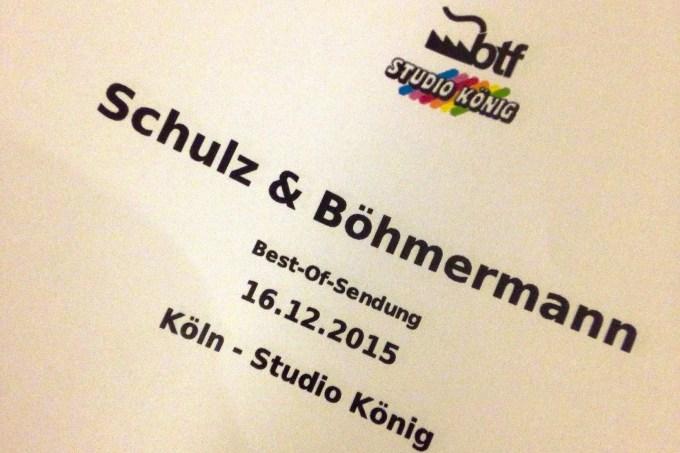 Schulz und Böhmermann