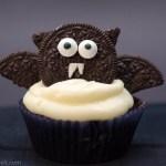 Halloween-Cupcakes: Fledermaus-Cupcakes