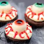 Halloween: Gruselige Glubschaugen-Cupcakes