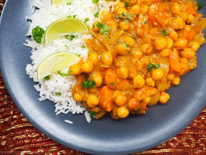 Cremiges Kichererbsen-Kokos-Curry