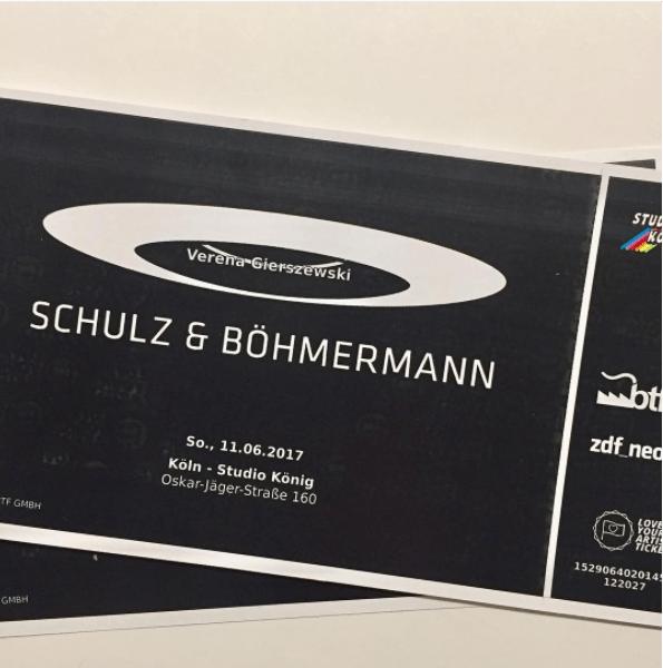 Verena bei Schulz & Böhmermann 2017