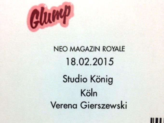 Verena beim Neo Magazin Royale 2015
