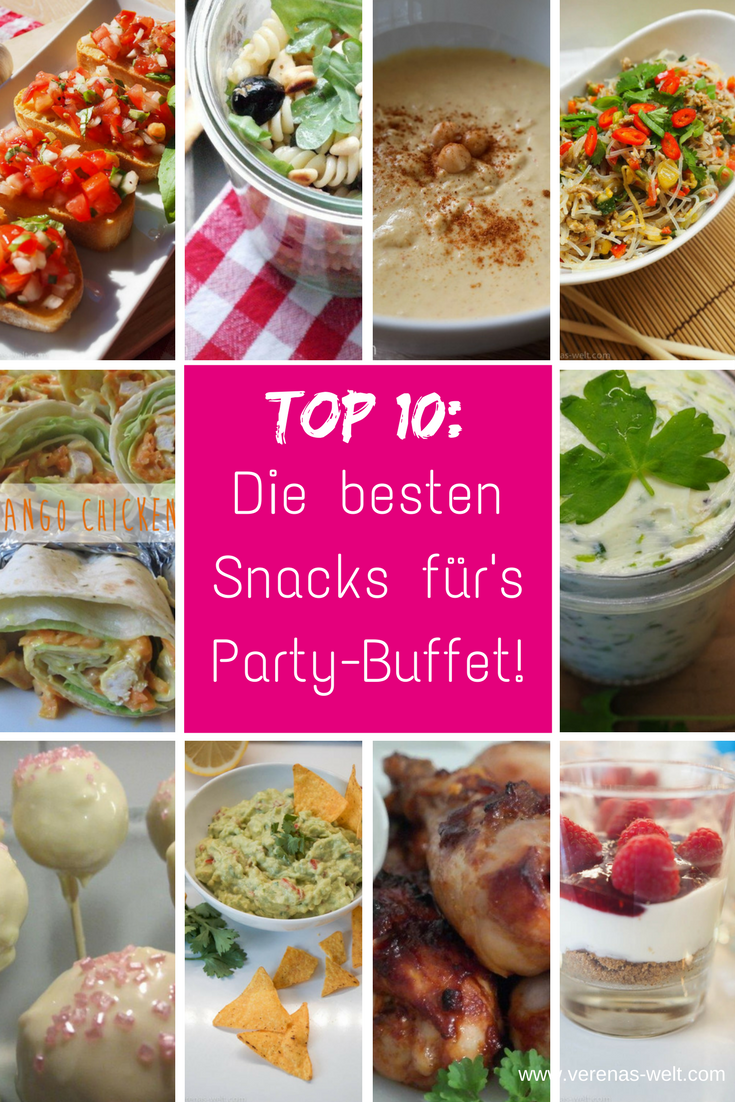 Top 10: Die besten Snacks für's Party-Buffet