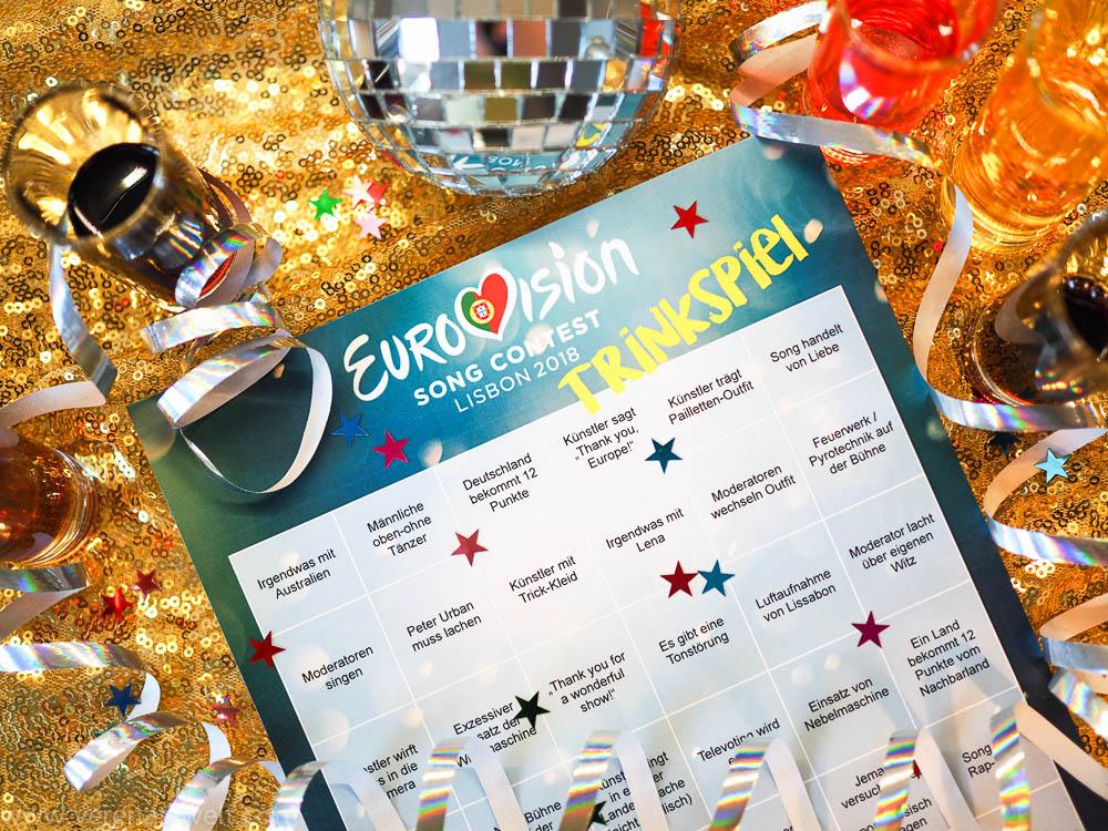 ESC 2018: Trinkspiel zum Ausdrucken
