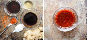 Ahornsirup-Ingwer-Wok-Sauce