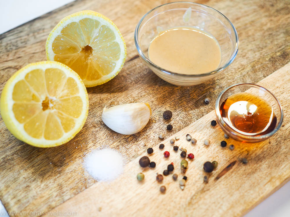 Cremiges Tahini-Zitronen-Dressing