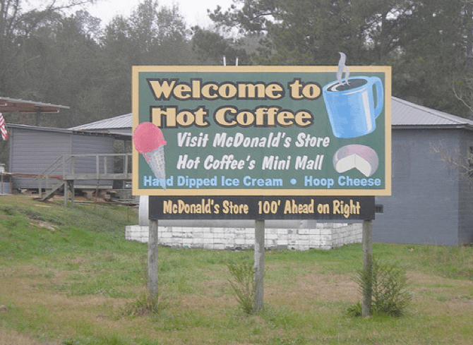 Gekke plaatsnamen in de USA! - Hot Coffee, Mississippi