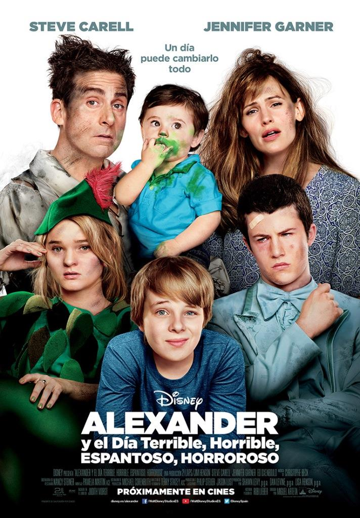 Alexander y el día terrible, horrible, espantoso, horroroso (2014) HD 1080p Latino