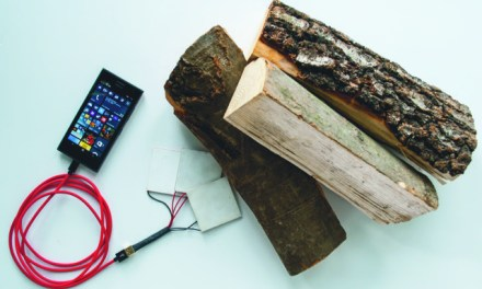 Hannover Messe: Mobile phone charging with electricity from wood