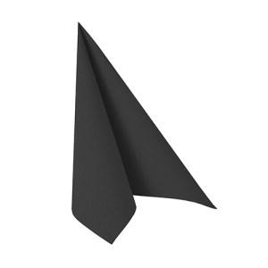 Servet zwart kunst linnen