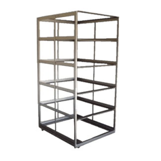 Rolling-Rack-for-10-Response-Beds -- Without-Beds