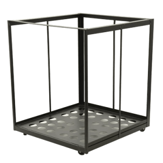 Rolling-Rack-for-6-Bariatric-Beds -- without-beds