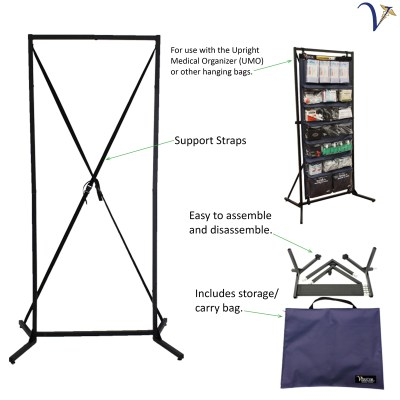 Stand for Upright Medical Organizer (MC-SUMO)