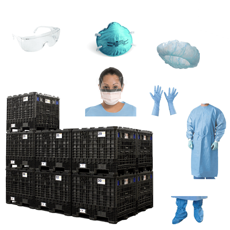 Staff Personal Protective Equipment Pan-Flu Cache Module - PFC-SPPE