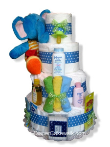 Elephant Diaper Cake from Diaper Cakewalk