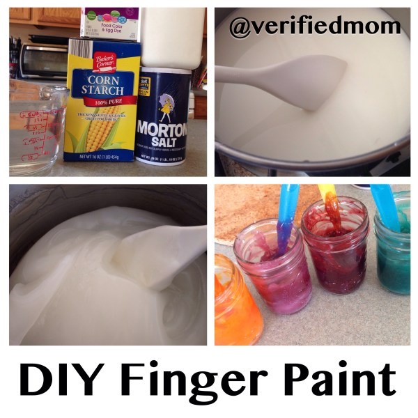 Homemade DIY Kid-Friendly Finger Paint