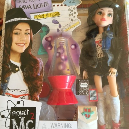 Project MC2 doll with lava lamp
