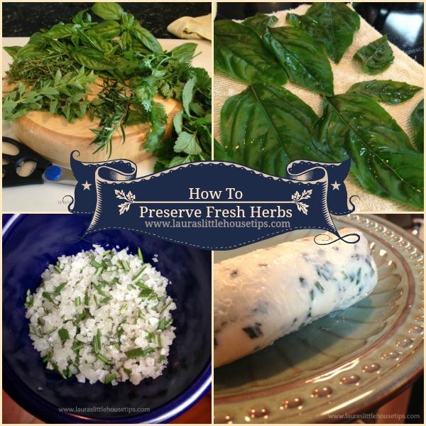 Preserve Fresh Herbs