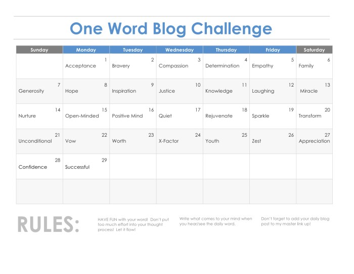 Word-A-Day Blog Challenge