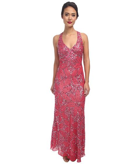 Adrianna Papell - Dream Girls Bead Prom Gown (Geranium) Women's Dress