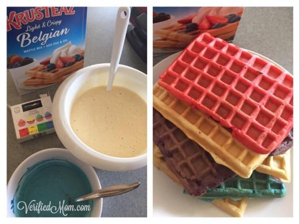 Family Fun Colorful Waffles always make dinner more fun!