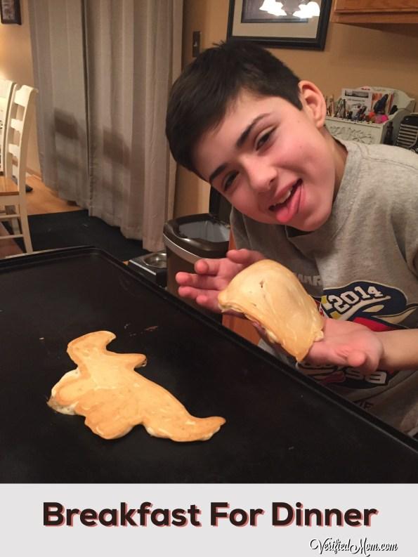 Family Fun Breakfast Dinner - creating edible art