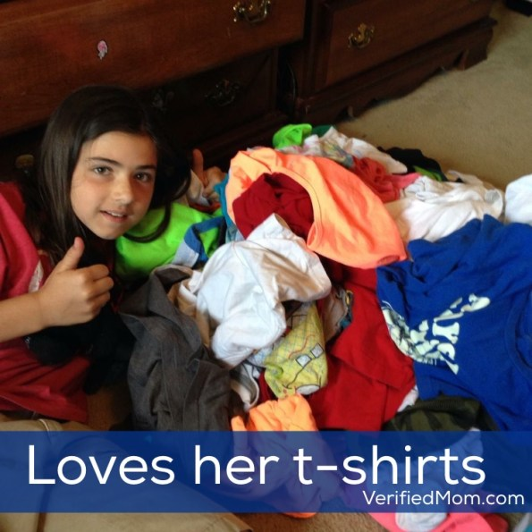 She loves her boy t-shirts