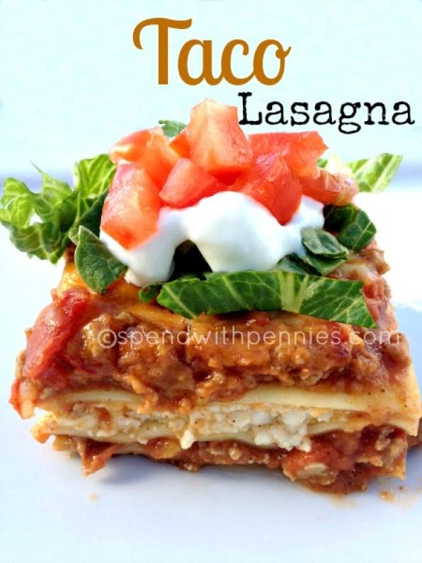 Easy Taco Lasagna