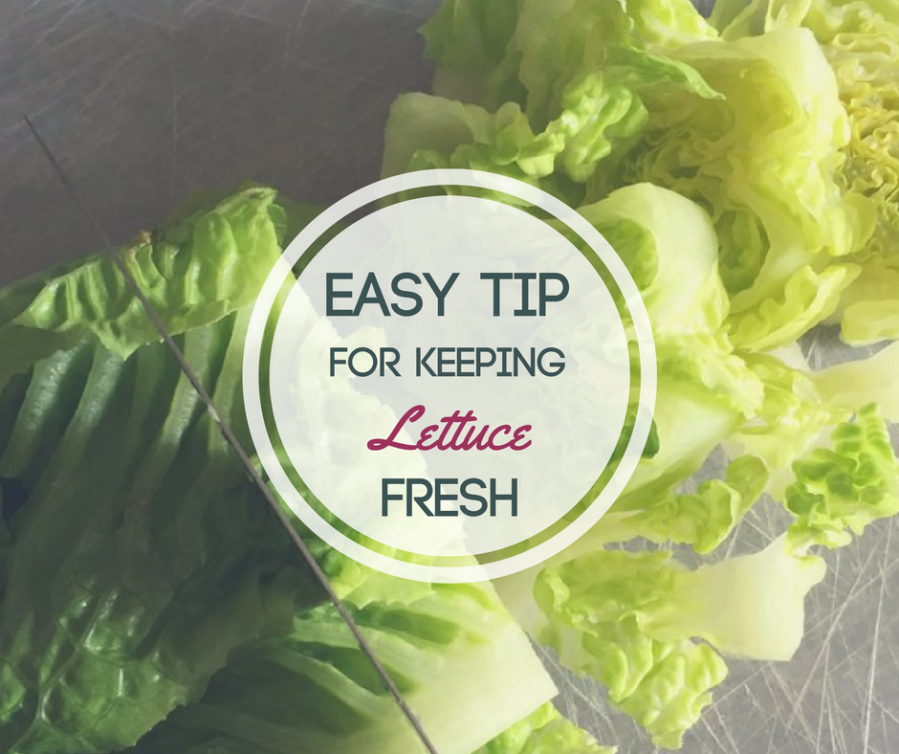 Easy Tip for keeping lettuce fresh