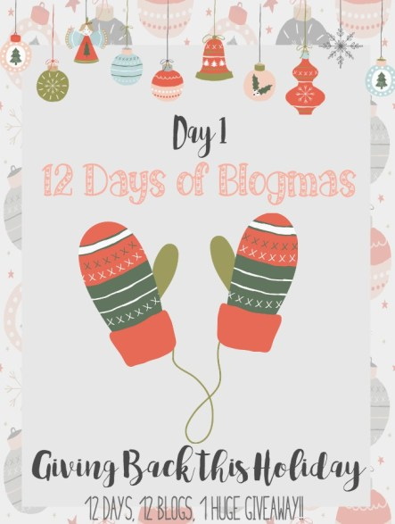 Day 1 - Merry Blogmas - Giving Back