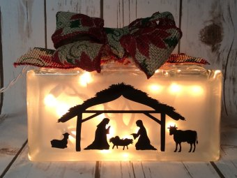 Holiday Nativity Light Block by Creations by Janice Gif