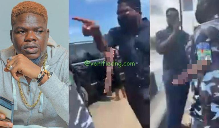 """""""You are part of the corruption we're talking about"""" – Comedian, Mr Macaroni rages at police officers who allegedly extorted money from a man (Video)"""