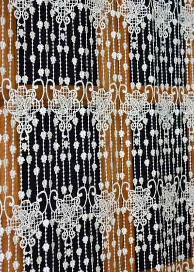 rideaux en macrame brode de fabrication
