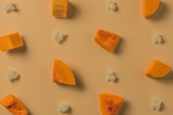 La etiqueta de una crema de calabaza ecológica - Veritas