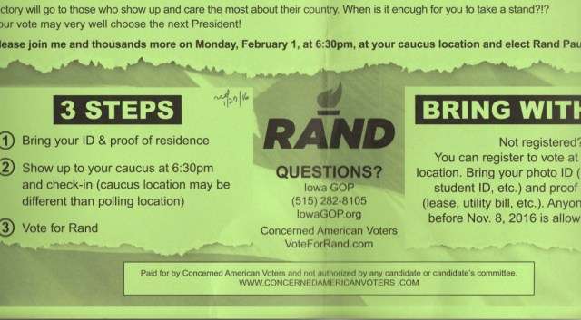 Rand Paul Ind PAC says ID