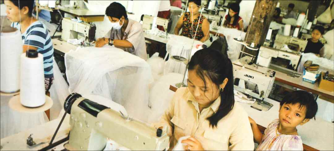 Apparel Workers at Sewing Machines